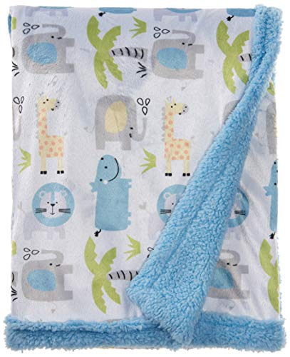 Buttons Stitches Printed Blanket Animals