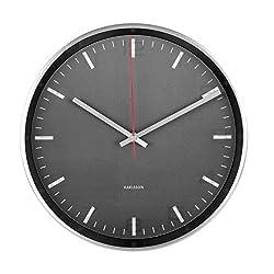 Karlsson Hologram Aluminium Glass Clock (Black)