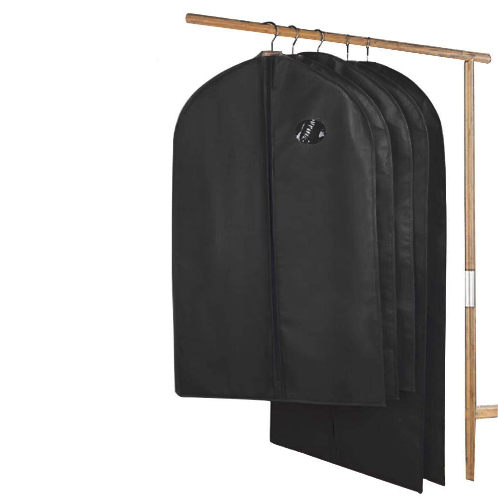 Ufamiluk Garment Bags Breathable Suit Bag Covers Set of 5 with Clear Window for Suit Carriers, Dresses, Linens, Storage or Travel