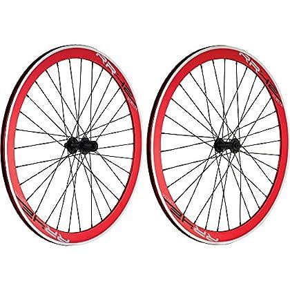 Image of Action 700C Track Vuelta RR42 Rim Red NOT Sealed Wheelset Sport