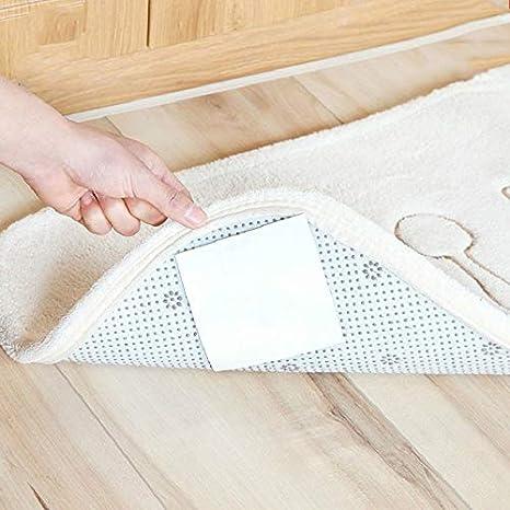 Size : 4PCS HCHD 4PCS Badmatte Aufkleber Anti Slip Teppich Greifer Badteppich Corner Grip Aufkleber doppelseitig klebenden Silikon-Bodenmatten Fixer