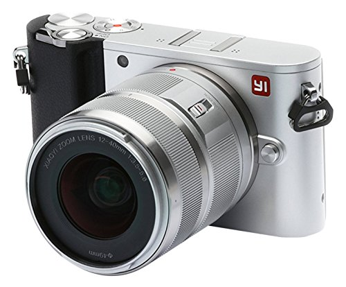 YI 4K Video 20 MP Mirrorless Digital Camera with LCD Touchscreen, Wi-Fi, Bluetooth, Interchangeable Lens 12-40mm F3.5-5.6 - Silver
