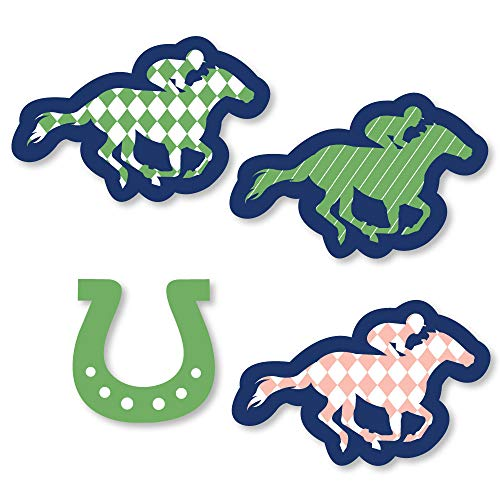 Big Dot of Happiness Kentucky Horse Derby - DIY Shaped Horse Race Party Cut-Outs - 24 Count