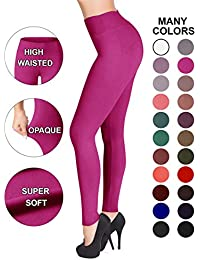 Satina High Waisted Leggings - 25 Colors - Super Soft...