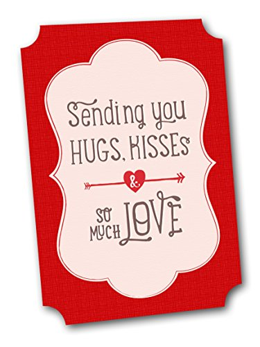 Cute Valentines Cards, Sending Love (Boxed 12 Pack of 5x7 Folding Cards - Envelopes Included)