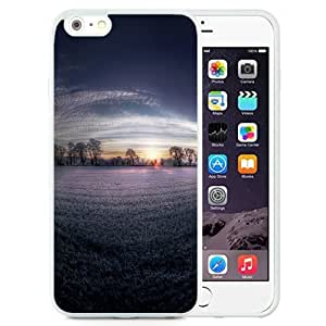 Unique and Attractive TPU Cell Phone Case Design with Lavender Field Dawn iPhone 6 plus 4.7 inch Wallpaper in White