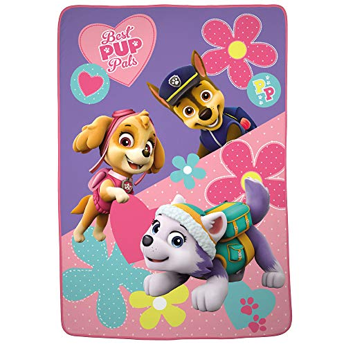 Nickelodeon Paw Patrol Super Soft Plush Microfiber Kids Bedding Blanket, Twin/Full Size 62