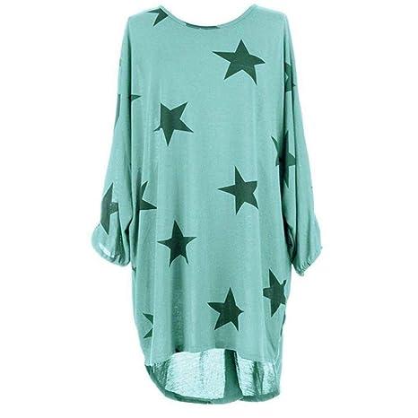 AiBarle - Blusa de Manga de murciélago con Estampado de Estrellas ...