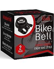 2 Pack Classic Bike Bell, Bicycle Bell | Loud Crisp Clear Sound Bicycle Bike Bell, City Bike, BMX Bike, Sports Bike for Adults Kids, Right Hand/Left Hand Use - Black