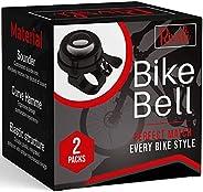 2 Pack Classic Bike Bell, Bicycle Bell | Loud Crisp Clear Sound Bicycle Bike Bell, City Bike, BMX Bike, Sports