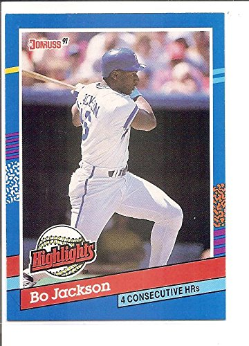 Bo Jackson Kansas City Royals 1991 Donruss Highlights Baseball Card