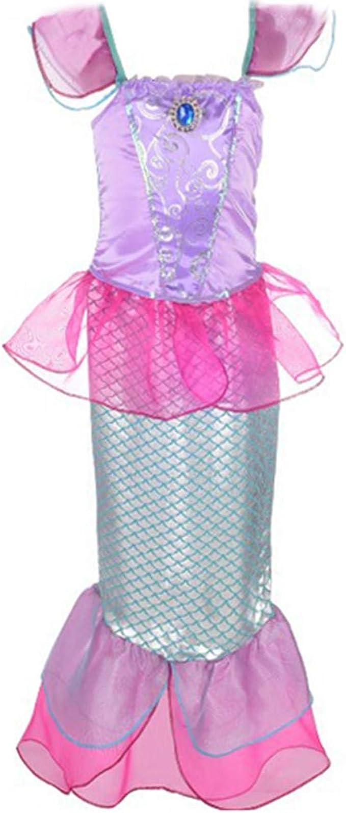 Gaga city Disfraz de Sirena para Niña,Sirena Infantil Vestido ...