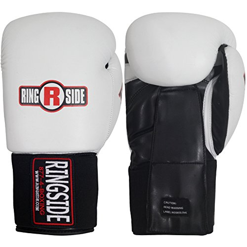 Ringside Imf Tech Sparring Elastic Boxing Gloves (White, 16-Ounce)