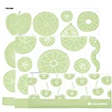 Lunchskins Reusable 3-Pack Gallon, Sandwich, and Snack Zip Bags, Green Fruit