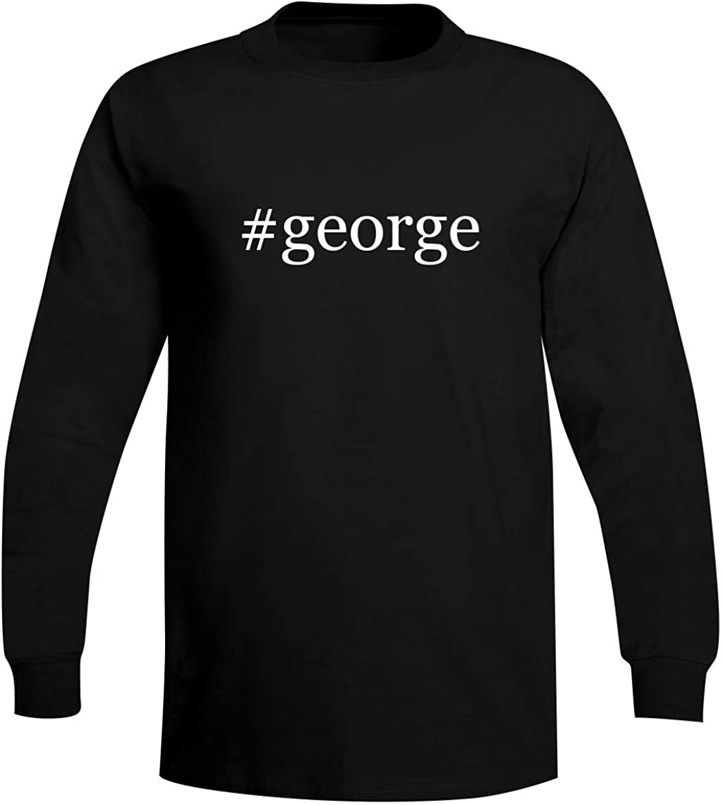 The Town Butler #George - A Soft & Comfortable Hashtag Men's Long Sleeve T-Shirt