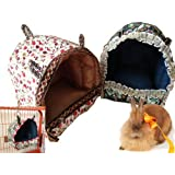 Mkono Cozy Hut Hamster Hammock Hanging Bed House Habitats Cage for Hamster Gerbil Chinchilla Guinea Pig Ferret Hedgehog, M