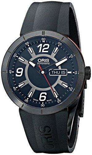 Oris Men's 73576514764RS TT1 diver Analog Display Swiss Automatic Black Watch