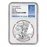 2019 American Silver Eagle $1 MS70 NGC First Day of