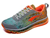 ONEMIX Women's Air Cushiong Running Shoes,Lightweight Sport Athletic Sneakers Workout,Grey/Orange,Size 8,Fashion Casual