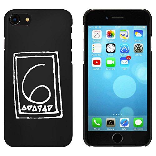 Noir 'Numéro 6' étui / housse pour iPhone 7 (MC00063817)