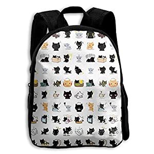 Child Cute Cats Popular Printing Toddler Pre School Backpack Bags Lightweight