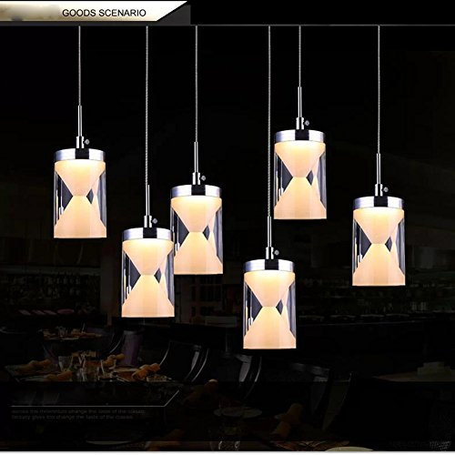 Modern Simple LED Ceiling Lights Fashion Hourglass Pendant Lights Personality Art Lamps for Living Room Restaurant and Study , Warm , 6 light Round (Simple Hourglass)