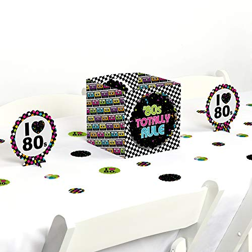 Big Dot of Happiness 80's Retro - Totally 1980s Party Centerpiece & Table Decoration Kit
