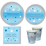 Twinkle Twinkle Boy Standard Party Packs (65+ Pieces for 16 Guests!), Baby Shower Supplies, Birthday, Twinkle Twinkle Little Star, Party Decorations, Tableware