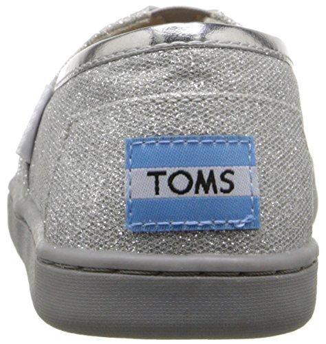 TOMS Youth Alpargata Novelty Textile Espadrille, Size: 4.5 M US Big Kid, Color Silver Glimmer - Image 2