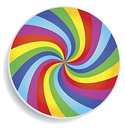 Rainbow Swirl Buttons