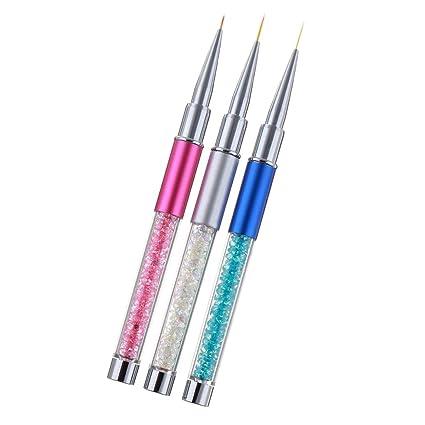Blesiya 8 pcs brushes nail brush professional nail art tool nail dotting pen