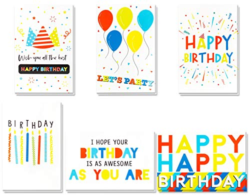 Birthday Cards -60 Pack Birthday Greeting Cards In Vibrant Colors -Happy Birthday Cards -Bulk Birthday Cards- Birthday Cards For Kids, Girls, Boys, Mom, Dad, Friends -Include 60 Envelopes- 4 x 6 Inch (Birthday Cards Unicef)