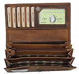Hill Burry Women's Wallet Purse Natural Oiled Full-grain Leather Vintage Tallinn