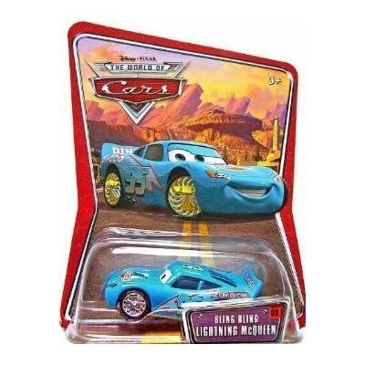 Disney Pixar Cars Bling Bling Lightning McQueen 1:55 Die-cast Vehicle: Toys & Games