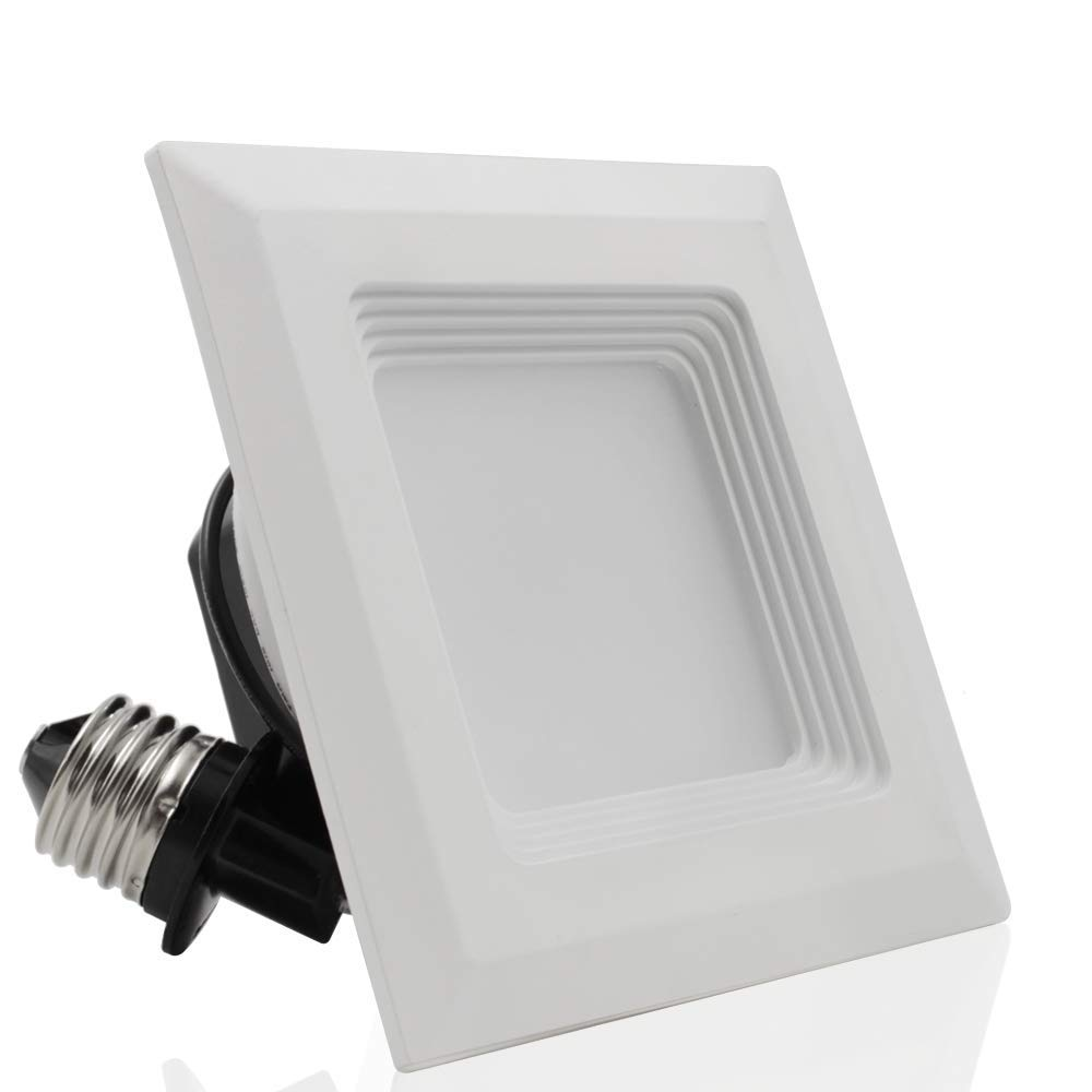 Torchstar high cri90 4 inch dimmable retrofit led square recessed lighting fixture 9w 60w equivalent 5000k daylight 650lm recessed led downlight