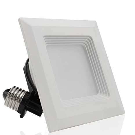 4 inch recessed lighting 3 inch torchstar high cri90 inch dimmable retrofit led square recessed lighting fixture 9w 60w amazoncom