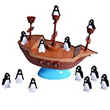 Balanced Penguin Pirate Ship Toy Set-Don't Rock The Boat