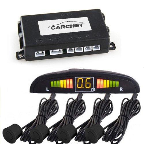 LED 4 Sensores de Aparcamiento Marcha Atras Negro Nuevo: Amazon.es: Coche y moto