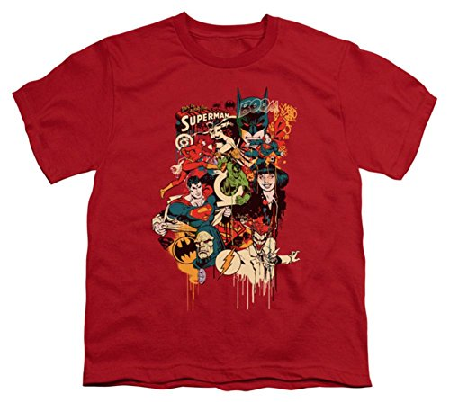 Dripping Characters -- DC Comics Youth T-Shirt, Youth Medium