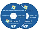 #3: Windows Recovery for Windows 7 Install Reinstall Recovery Repair Disk for 32 & 64-Bit PC Systems + Automatic Drivers 2018 Installation 2 DVD Set | Home Basic Premium & Professional Ultimate