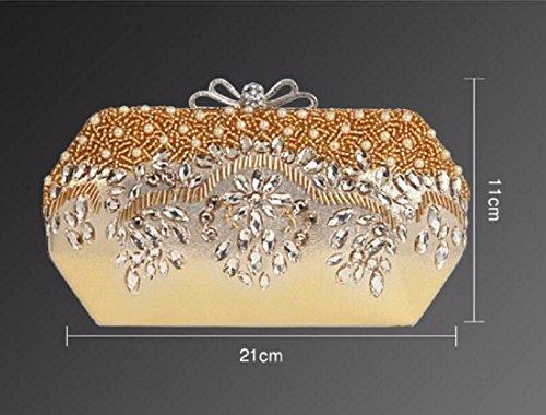 Diamant Obliquité De Qualité Sac Épaule Brodés De Gueules XJTNLB Perle L'Épaule Sac En Golden Dîner Qui De Haut Unique Haute Robe Féminine Grade RAz8Awq