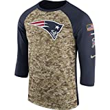 Nike Men's New England Patriots Dry Tee Legend 3/4 STS Raglan Shirt