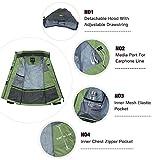 Wantdo Women's Windbreaker Raincoat Breathable
