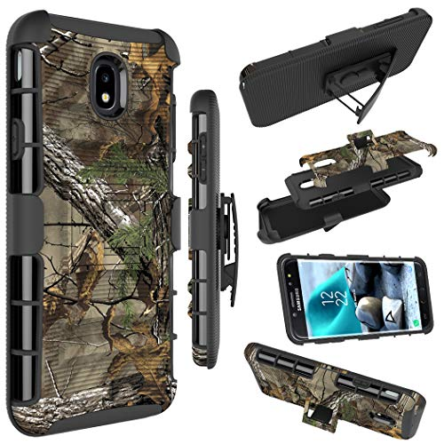 Galaxy J7 2018 Case, Galaxy J7 Refine Case, Zoeirc Armor Shock Proof Dual Layer Phone Cover with Kickstand & Belt Clip Holster for Samsung Galaxy J7 V 2nd Gen,Galaxy J7 - Cover Camo Phone Cell