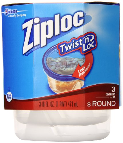 Ziploc Twist N Loc Container Small 3 ct (Pack Of 3)