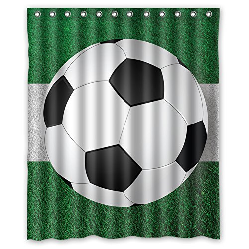 [MOLD & MILDEW RESISTANT & Halloween Costume Personalized Custome Soccer Waterproof Polyester Fabric Bathroom Shower Curtain 60