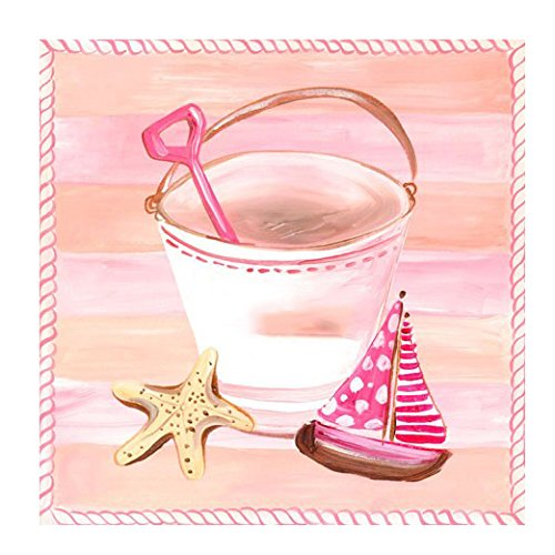 Oopsy Daisy Day At The Beach, Peachy Pink by Oopsy Daisy
