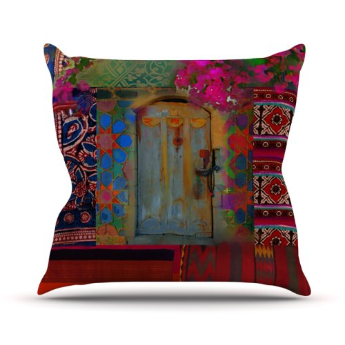 Top Kess InHouse S. Seema Z Ethnic Escape Ped Pink Outdoor Throw Pillow, 16 by 16-Inch for sale