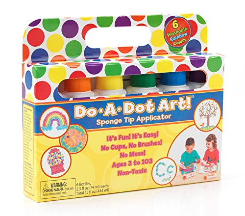 Do A Dot Art! Markers 6-Pack Rainbow Washable Paint Markers, The Original Dot