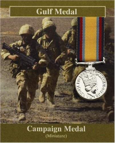 Small Reproduction Gulf War Campaign Medal - Silver Plated ()
